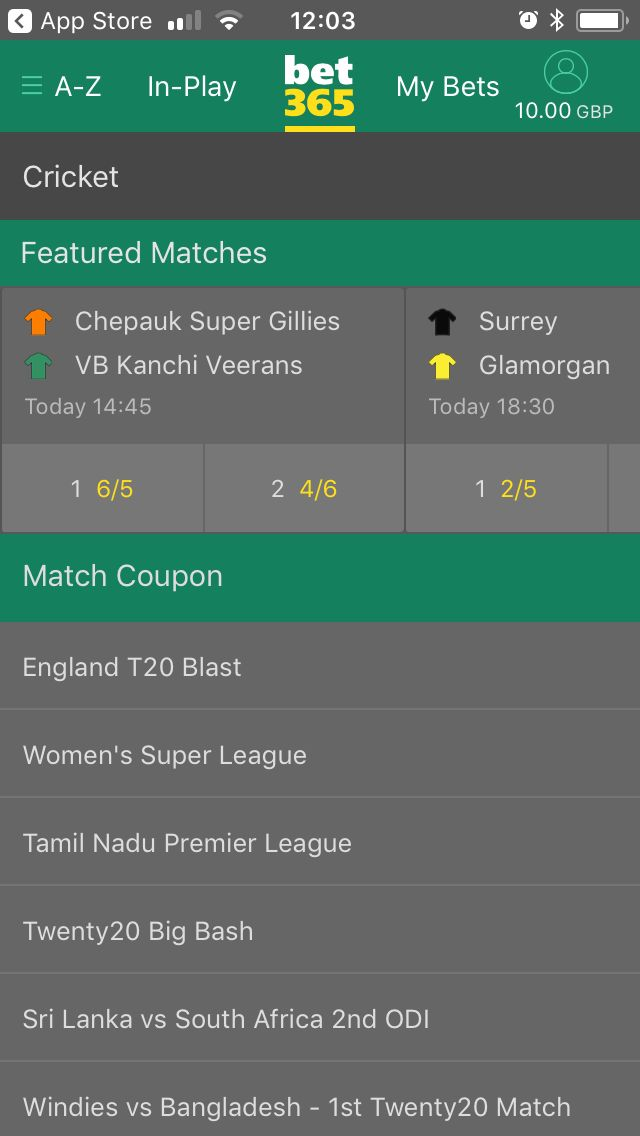 bet365 cricket